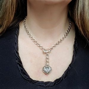 Rare John Hardy Heart 18k and Sterling Necklace